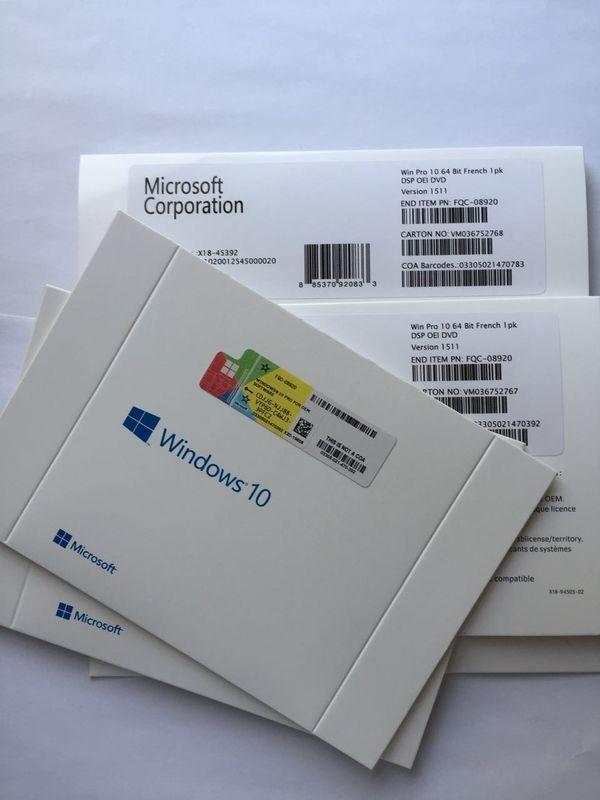 MS Windows 10 Professional OEM Key , Windows 10 Pro 64 Bit DVD